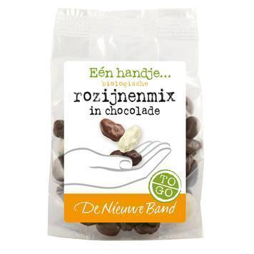 Rozijnenmix in chocolade (75g)