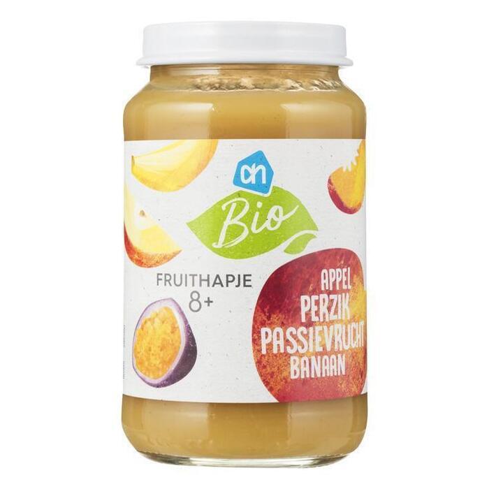 AH Biologisch Fruithapje appel-perzik ban-passie fr 8m (200g)