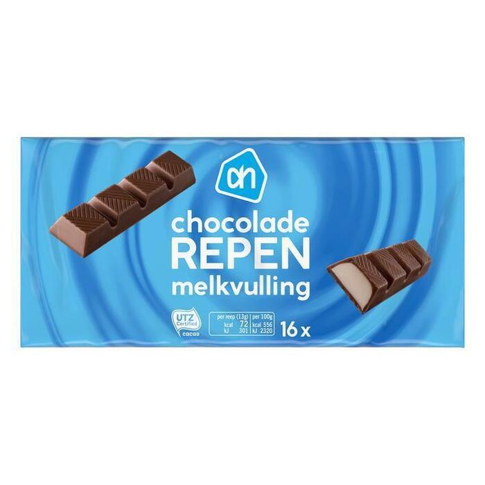 AH BASIC Chocolade reepjes met melkvulling (200g)