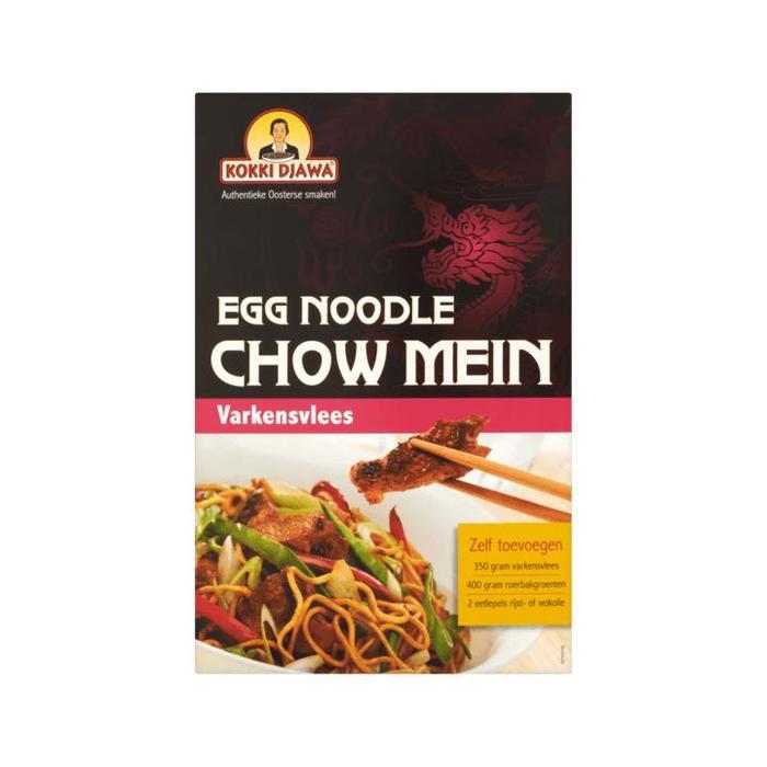 Kokki Djawa Egg Noodle Chow Mein Varkensvlees 300g (300g)