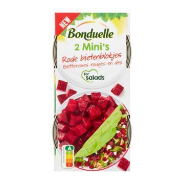 Bonduelle Rode bietenblokjes (2 mini's) (2 × 80g)