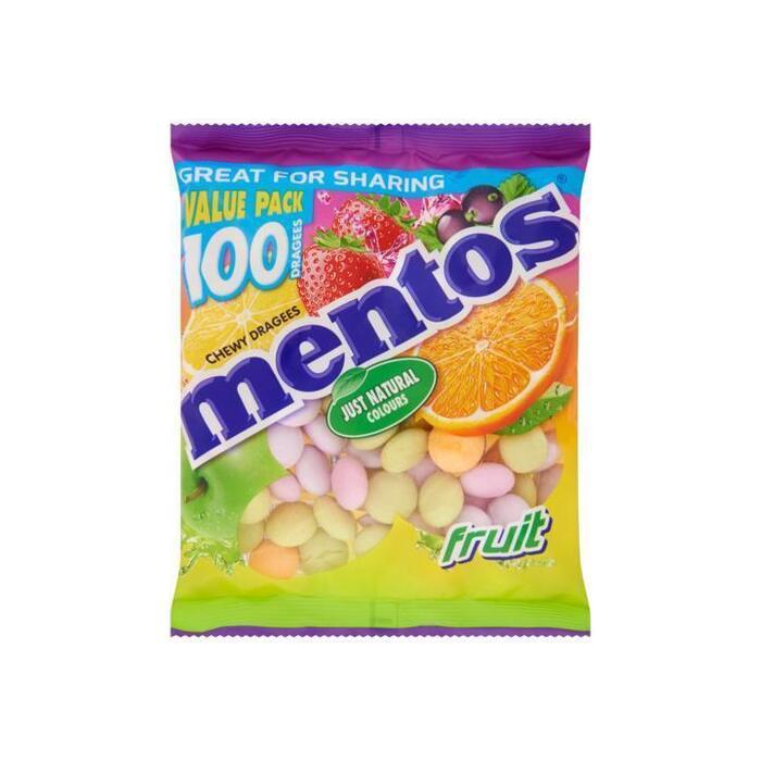 MENTOS  Fruit Zacht Suikerwerk 295 GR Zak (295g)