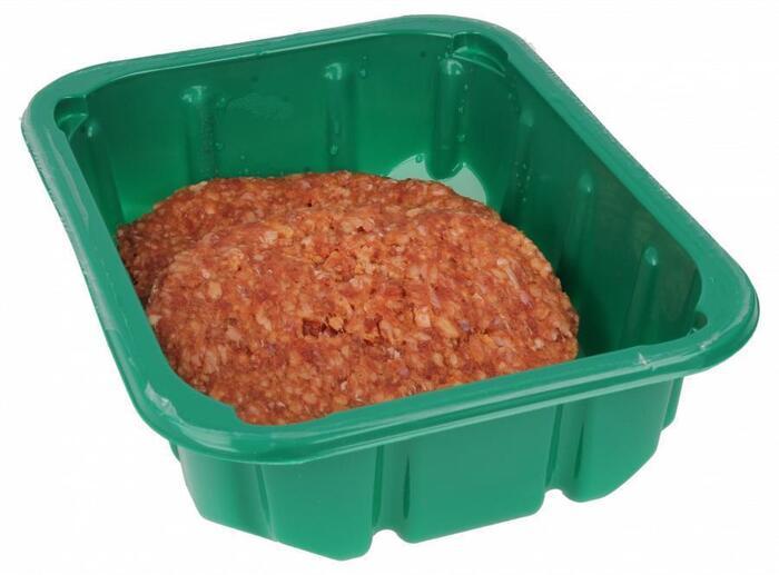 Bio hamburgers 2 op schaal (200g)