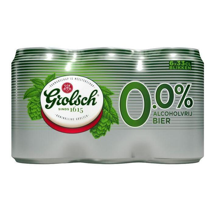 Grolsch 0.0 Blik (rol, 6 × 33cl)