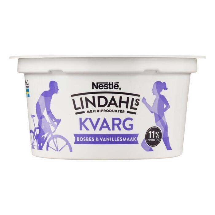 Lindahls Kvarg bosbes-vanille (150g)
