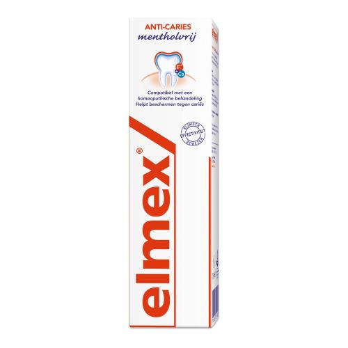 Elmex Anti-Caries Mentholvrij Tandpasta 75 ml