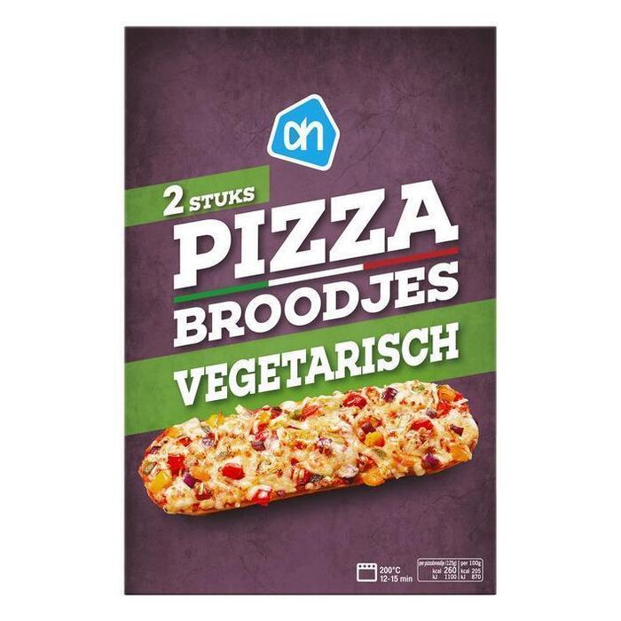 AH Pizzabrood vegetarian (doos, 2 × 125g)