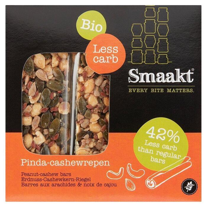 Smaakt Low carb reep cashew bio (25g)