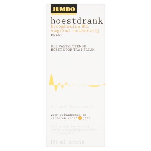 Jumbo Hoestdrank Broomhexine HC1 4 mg/5 ml Suikervrij 150ml (150ml)