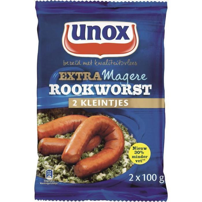 Kleintjes Extra Magere Rookworst (zak, 2 × 200g)
