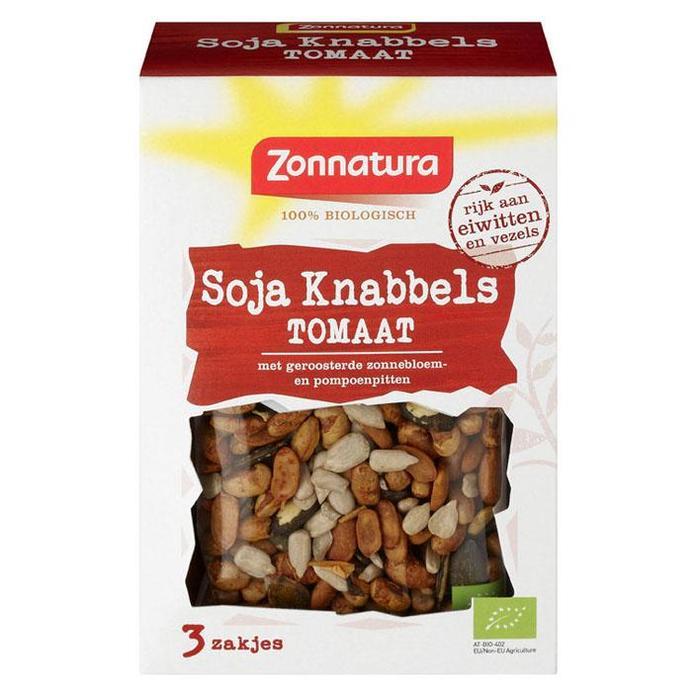 Zonnatura Soja knabbels Mix Tomaat 3x30 gr (90g)