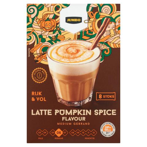Jumbo Latte Pumpkin Spice Flavour 8 Stuks 136 g (120g)