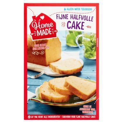 Homemade Fijne cakemix halfvol met bakvorm (400g)