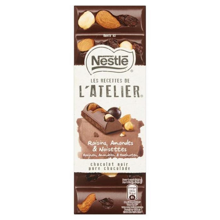 Nestlé L'Atelier Puur rozijn hazelnoot amandel tablet (100g)