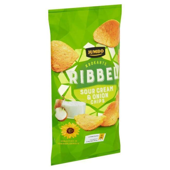 Jumbo Krokante Ribbel Sour Cream & Onion Chips 225g (225g)