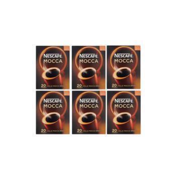 Nescafé Café Mocca Oploskoffie 6 x 20 Sticks (20 × 3.5g)