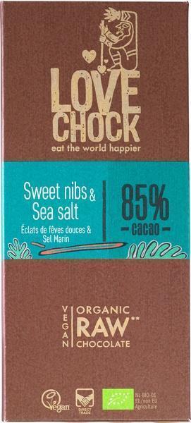 Chocotablet sweet nibs & sea salt (reep, 70g)