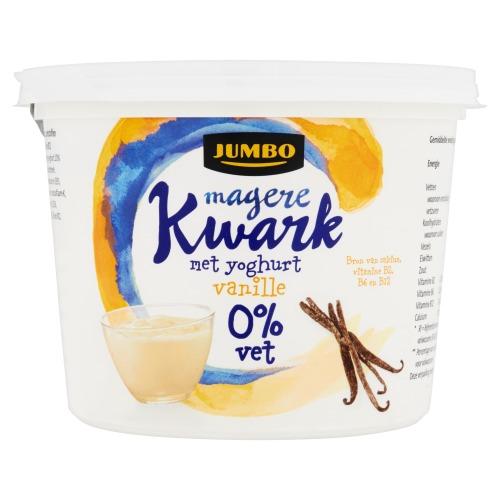 Magere Kwark met Yoghurt Vanille 0% Vet (bak, 500g)