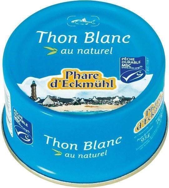 Witte tonijn naturel (blik, 132g)