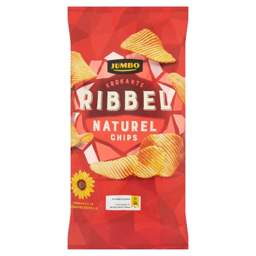 Jumbo Krokante Ribbel Naturel Chips 225 g (225g)