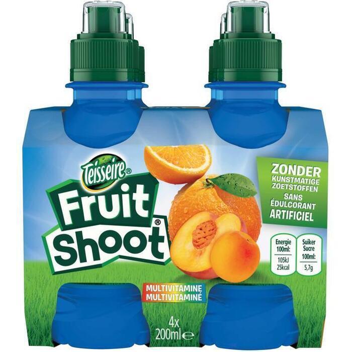 Fruit shoot multivitamine 4 flesjes (4 × 0.8L)