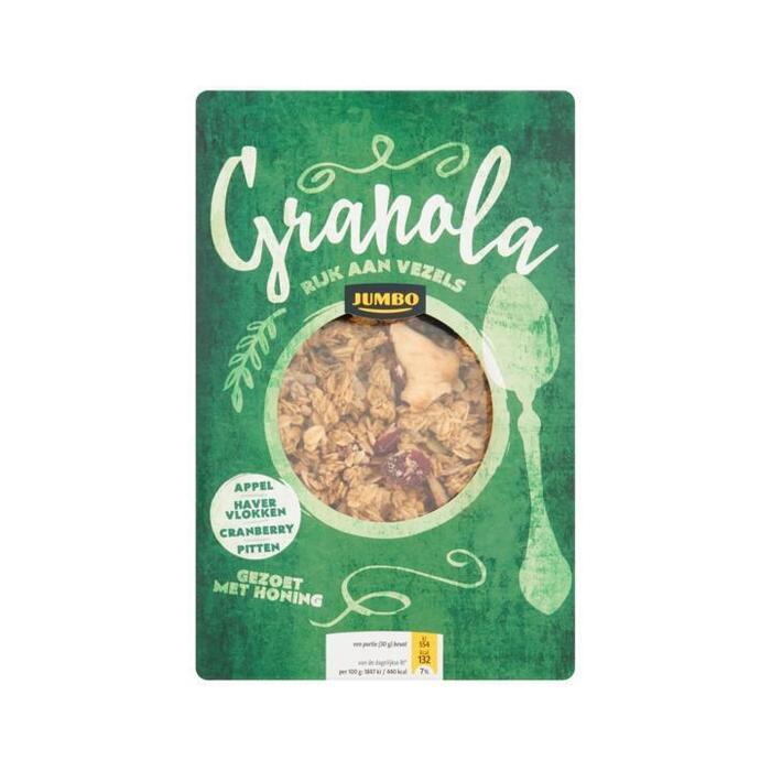 Jumbo Granola Appel, Havervlokken, Cranberry, Pitten 350g (350g)
