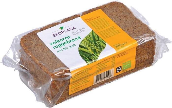 Roggebrood spelt volkoren (plastic, 500g)