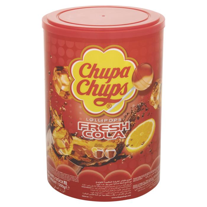 CHUPA CHUPS  Cola Lollies 1200 GR Emmer (100 × 12g)