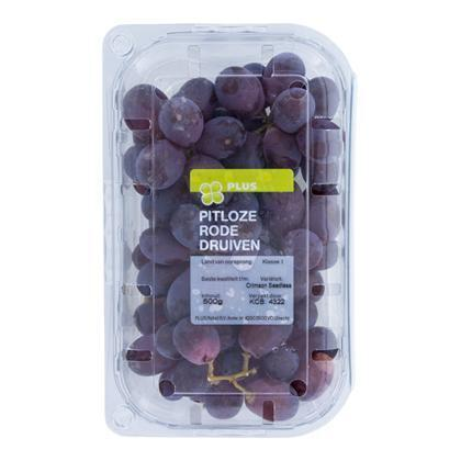 Druiven rood-blauw pitloos (Stuk, 500g)