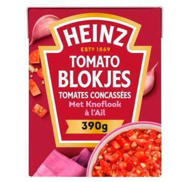 Tomato Blokjes met Knoflook (tetra, 390g)