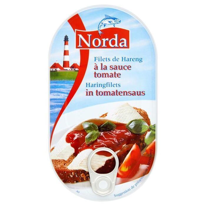 Haringfilets in tomatensaus (blik, 200g)