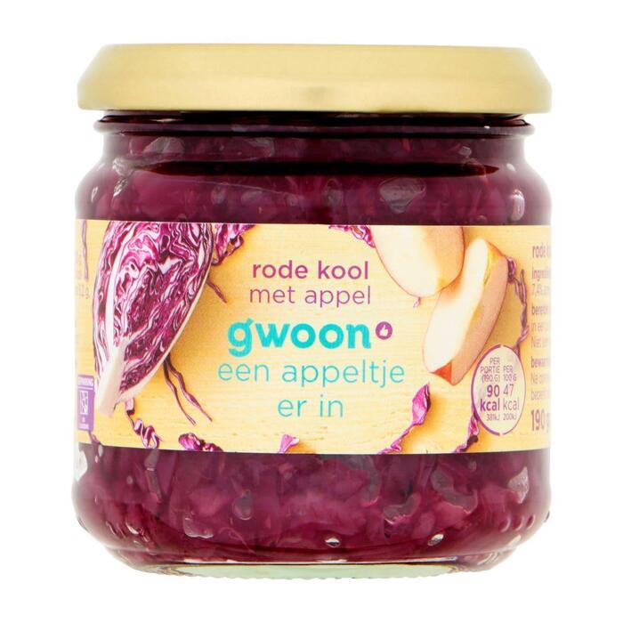 g'woon Rode kool met appel (190g)