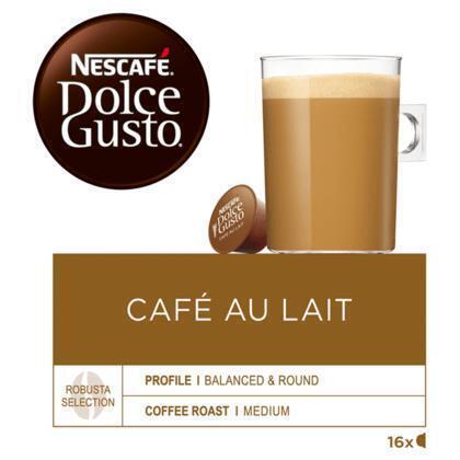 Dolce Gusto Café au Lait (16 stuks)( (Stuk, 16 × 10g)
