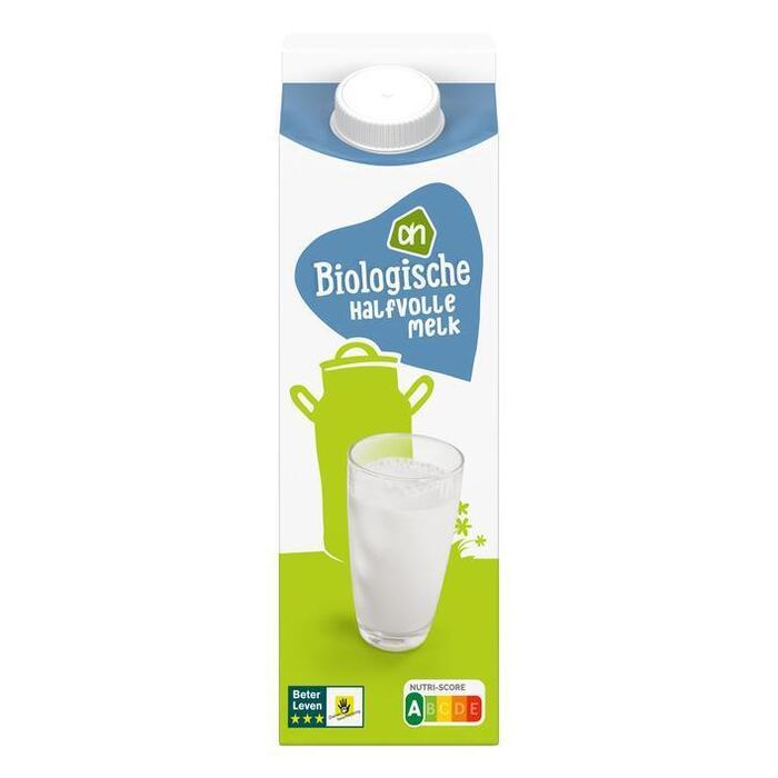 AH Biologisch Halfvolle melk (pak, 0.5L)