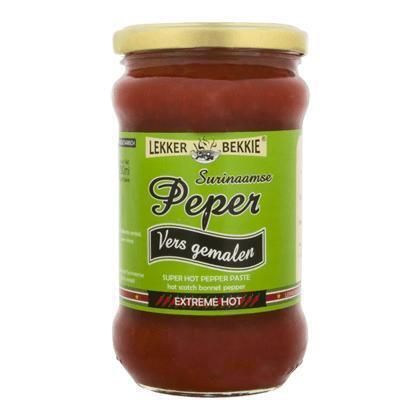 Vers gemalen Surinaamse pepers (290ml)
