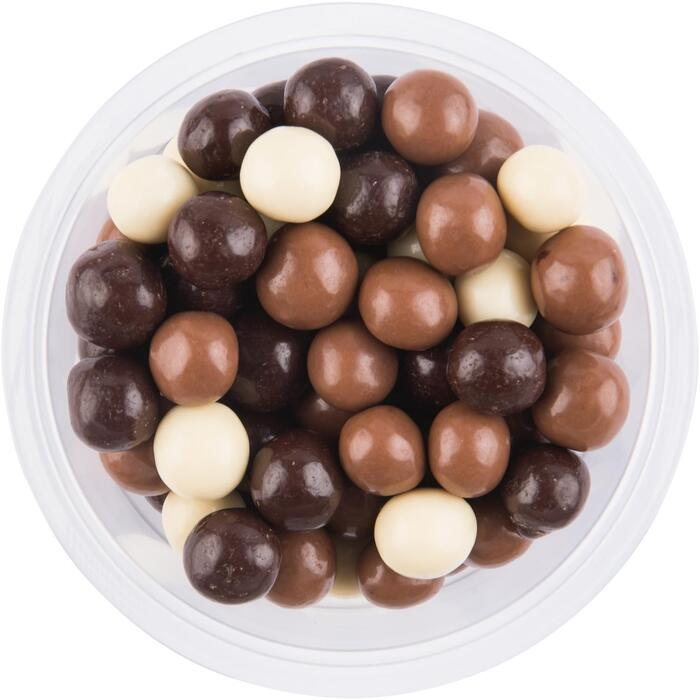 Chocolade rijstbollen melk puur en wit (180g)