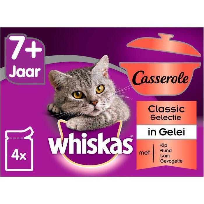 Whiskas Casserole senior classic selectie (4 × 340g)