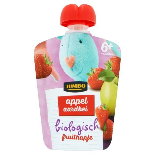 Jumbo Appel Aardbei Biologisch Fruithapje 6+ Maanden 90g (90g)