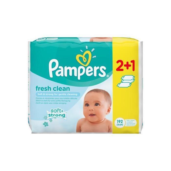 Pampers Fresh Clean Babydoekjes 3 Verpakkingen 192 Doekjes