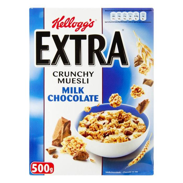 Kellogg's Extra melk chocolade (doos, 500g)