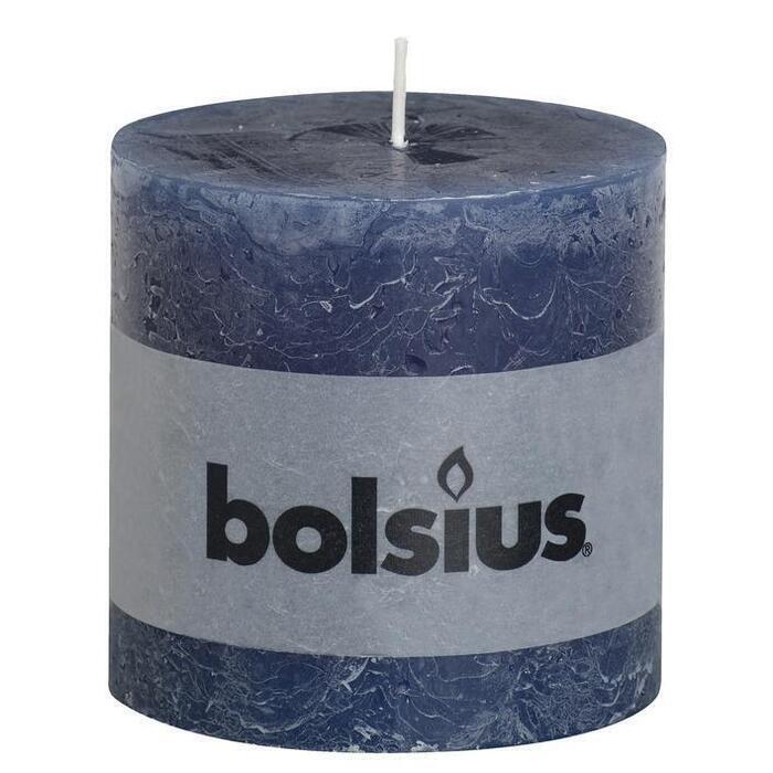 Bolsius Kaars rustiek 100 donkerblauw