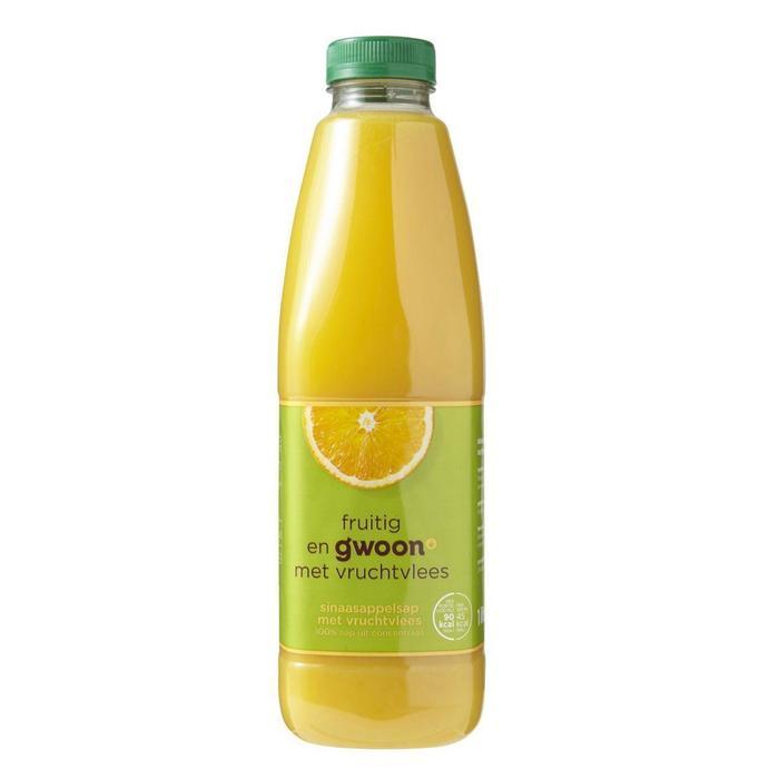 g'woon Sinaasappelsap met vruchtvlees (1L)