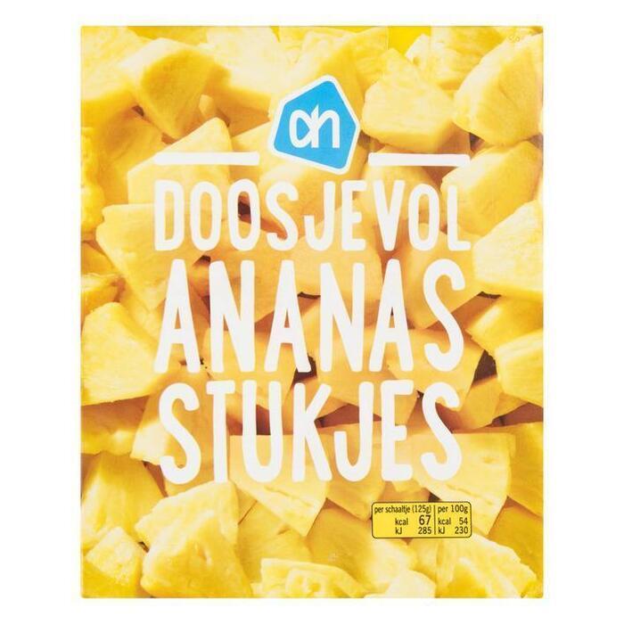 Doosjevol ananasstukjes (doos, 250g)