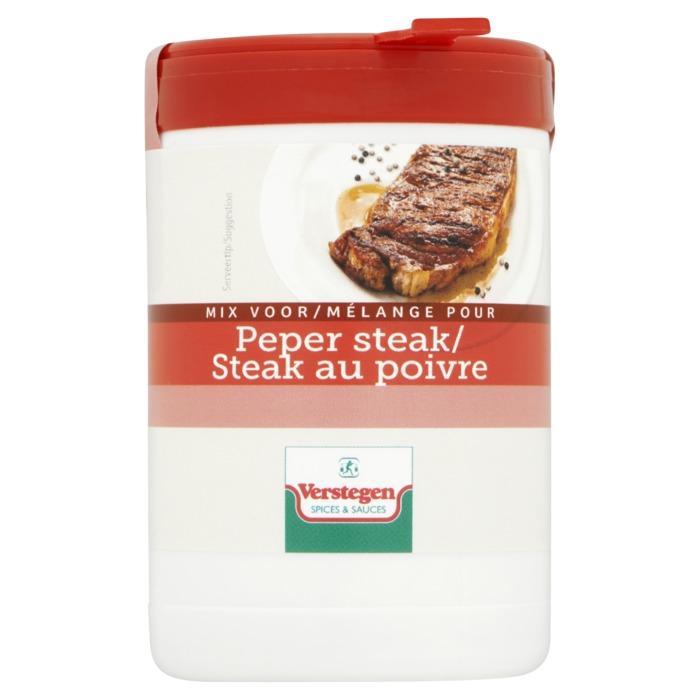 Verstegen  kruidenmix voor pepersteak met zout 70 g Pot (70g)