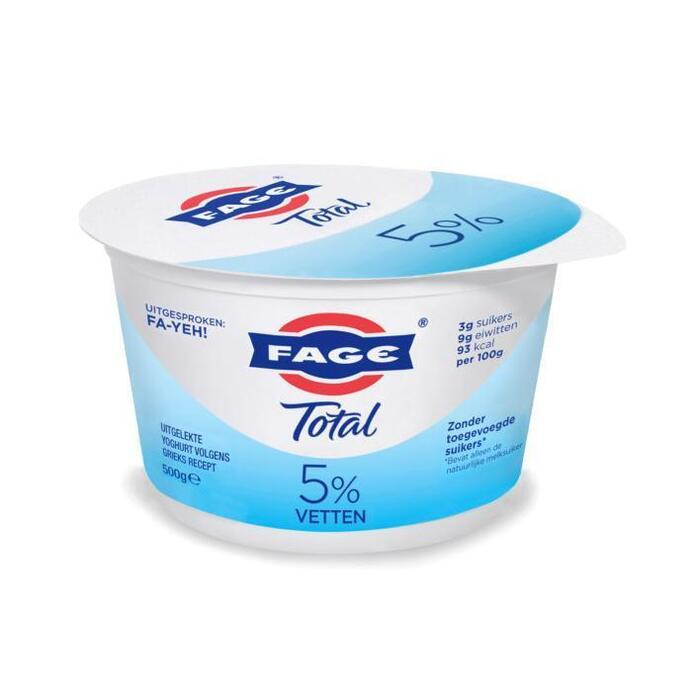 Fage Total Uitgelekte Yoghurt Volgens Grieks Recept 500g (500g)