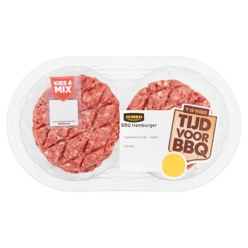 Jumbo BBQ Hamburger4 Stuks 360g (360g)