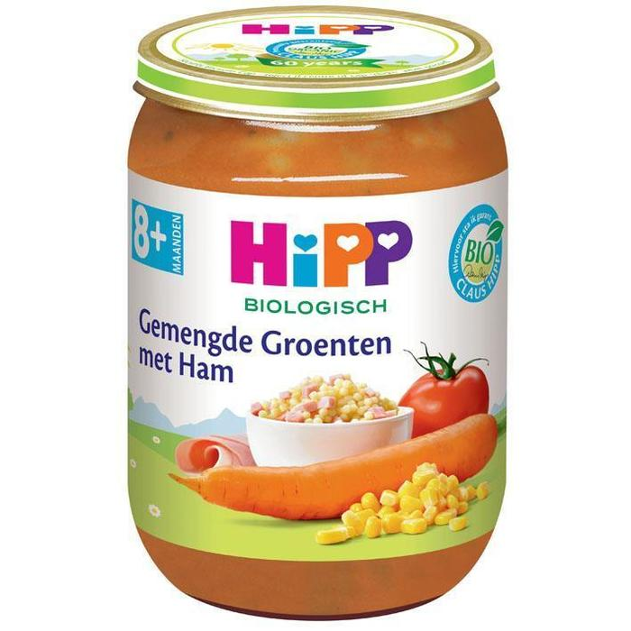 8M Gemengde groenten en ham (190g)