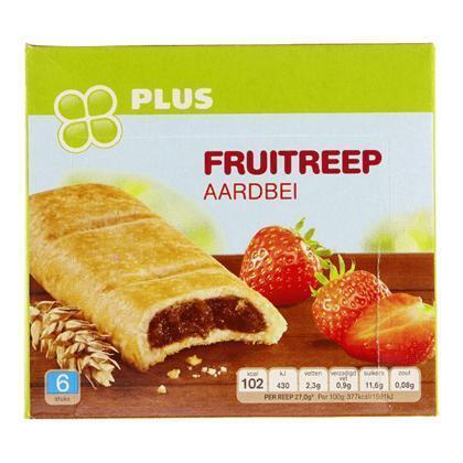 Fruitreep aardbei (6 × 27g)