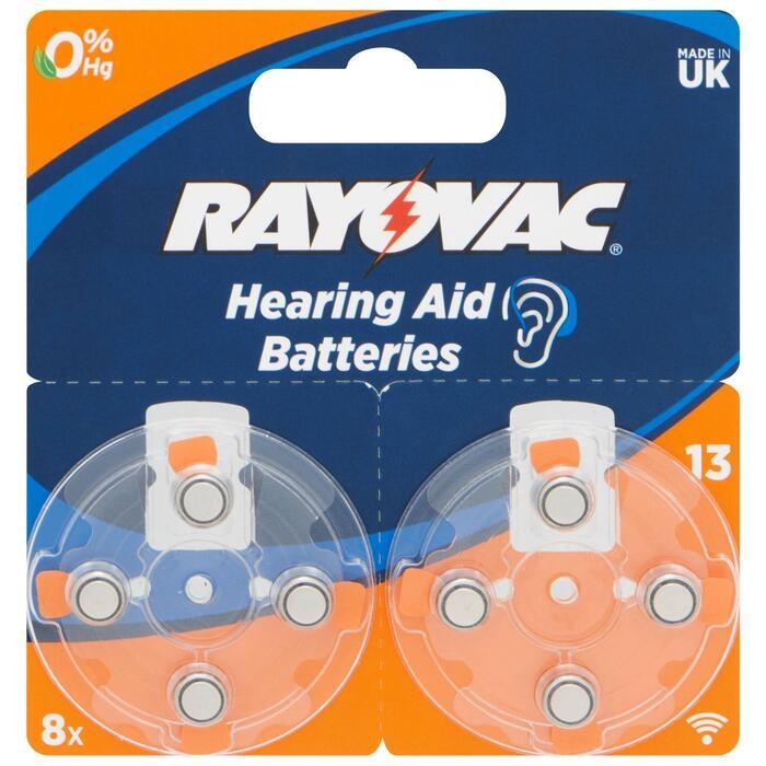 Rayovac Hearing Aid Batteries 1,45 V 8 Stuks