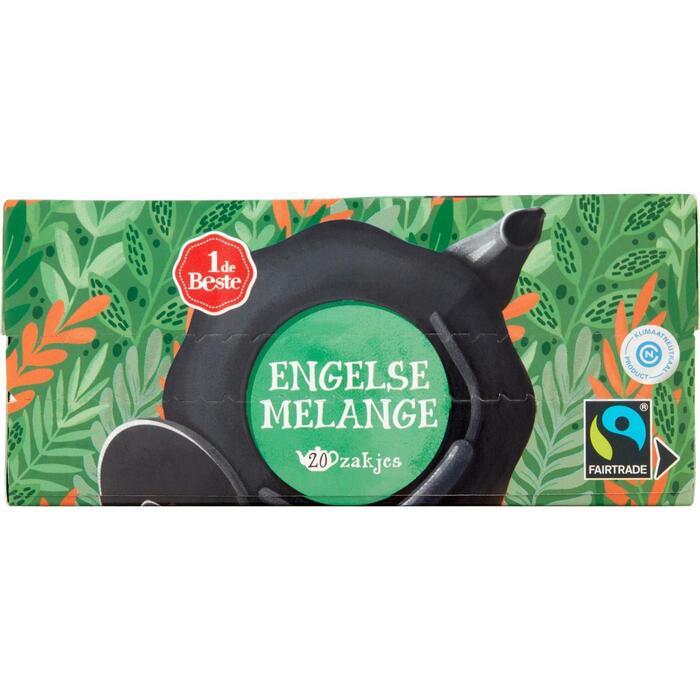 Zwarte thee engelse melange pot 20 zakjes (80g)
